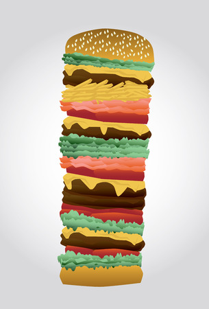 disgusted: Vector high burger