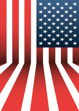 USA flag pattern background. Illustration