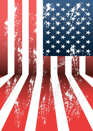 independance: USA grunge flag pattern background.