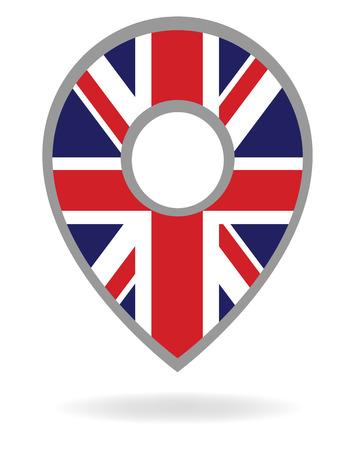 united kingdom: Vector United kingdom gps symbol