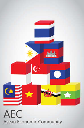 asean: Vector - ASEAN Economic Community, AEC