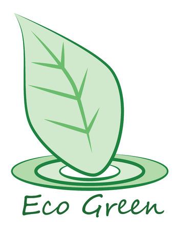 logo vector: vector eco green logo