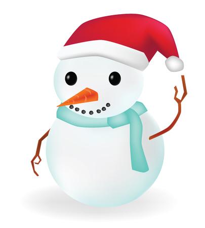 color image: Vector - Snow Man