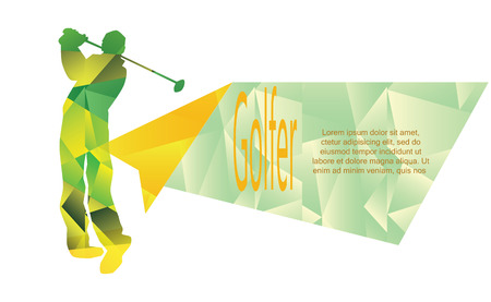 Vector - Illustration - golf sport poster background golfe Ilustração