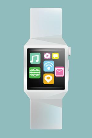 smart: Smart watch concept Illustration