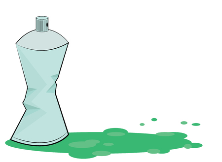compressed gas: Spray color with graffiti drop on isolated background