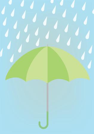 season: Rainy season design illustration Illustration