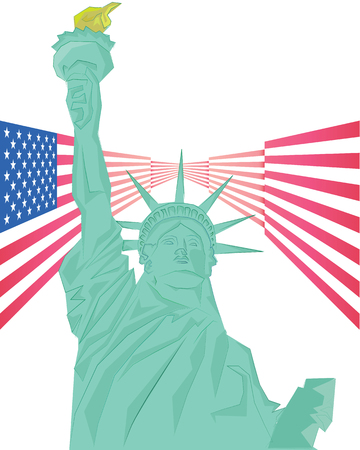 liberty statue: Liberty statue concept art on isolated background Illustration