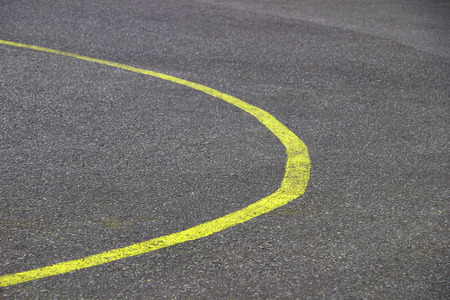 curve road: Stock Photo - new curve road yellow line