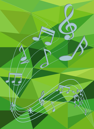 pc tune: Stock Photo - Blue abstract background with music notes Illustration