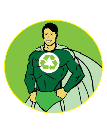 Hero of recycle concept art.