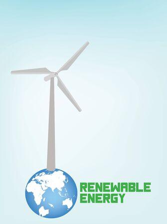 Renewable Energy Ecology Background, with wind turbines,