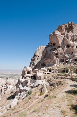 Ancient cavetown in Cappadocia, Turkey