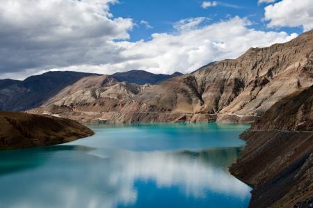 Yamdrok lake, the sacred lake in Tibet, China photo