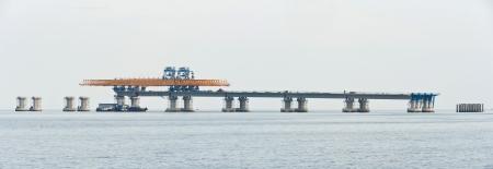 modernization: Penang second bridge under construction