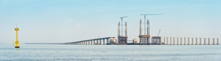 Penang second bridge under construction, Penang, Malaysia