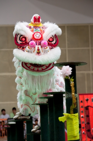 culture decoration celebration: Penang international Lion dance on stilts competition, Penang, Malaysia