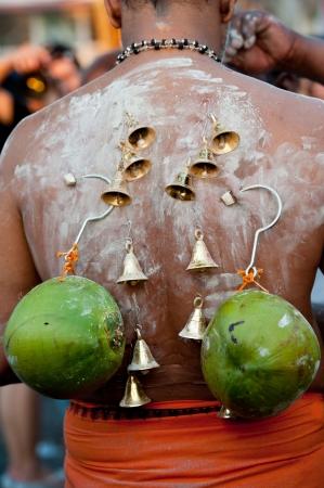 kavadi: Thaipusam festival in Georgetown, Penang Stock Photo