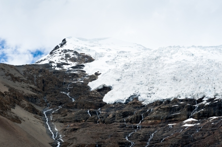 Mountain with glacier in Tibet, China Stock Photo