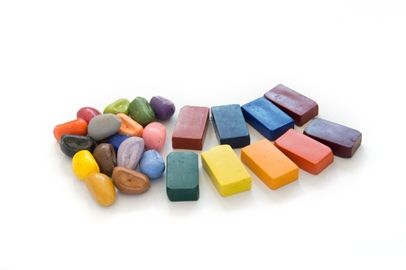 Colorful natural crayons for childrens drawing