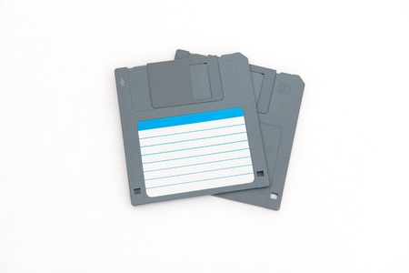 Two computer floppy disks --- old and obsolete technology