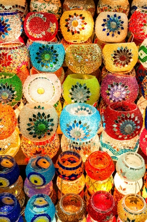 Turkish candle holders at Grand Bazzar market