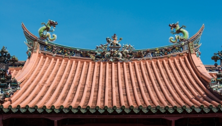 Chinese temple roof top, Penang, Malaysia