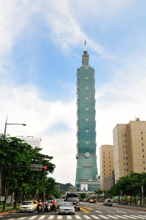 Taipei 101 building, tallest building in the world