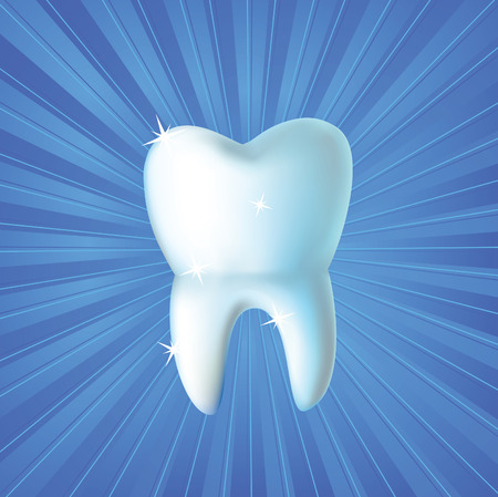 Fresh tooth vector background