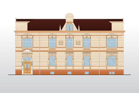 gable: Vintage house plans Illustration
