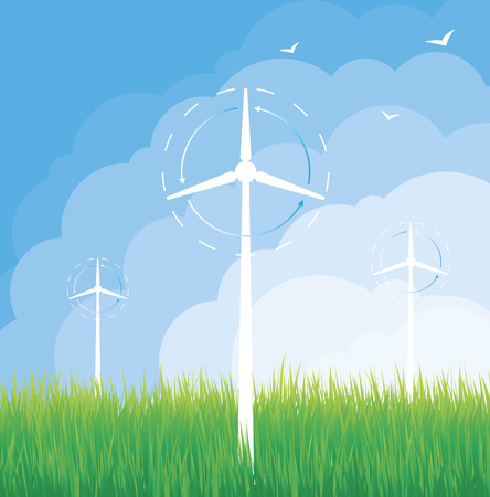 Wind mill folliage Stock Vector - 9062352