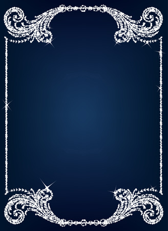 elegant border: Vintage crystal frame Illustration