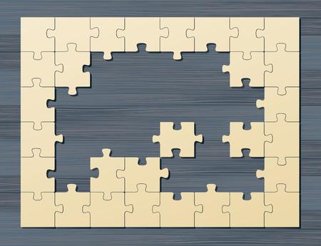 Vintage puzzle Vector