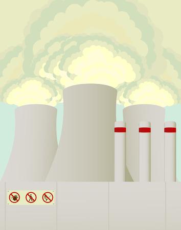 発電機: 喫煙の塔  イラスト・ベクター素材