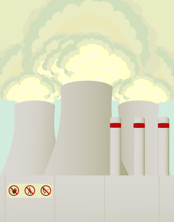 nuclear power station: Smoking towers