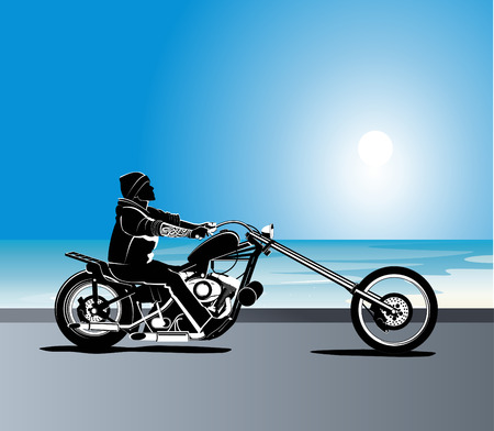 harley: Biker illustratie Stock Illustratie