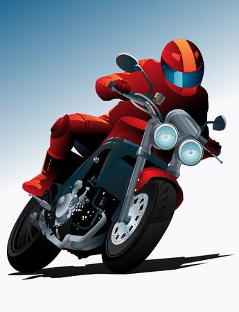 throttle: biker illustration Illustration