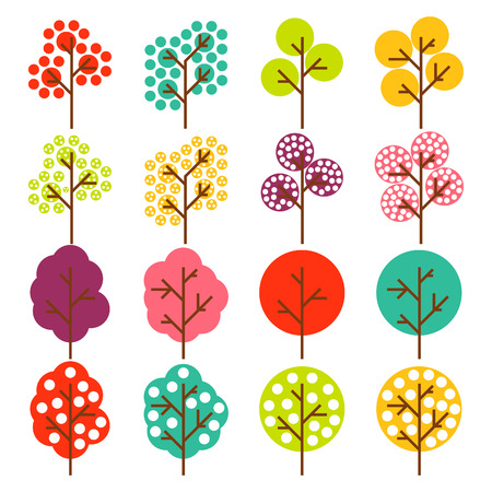 Colorfull tree Vector