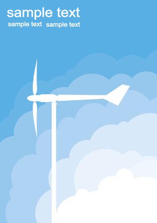 wind turbine generator background Vector