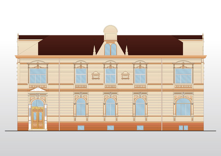 Vintage house  architecture Stock Vector - 9123450