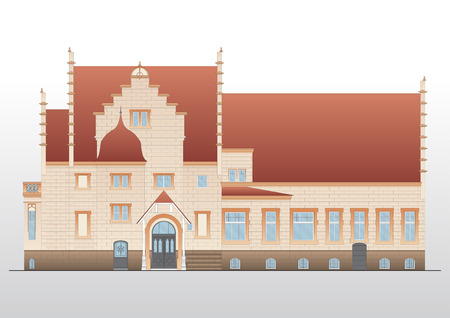 Vintage house  architecture Vector