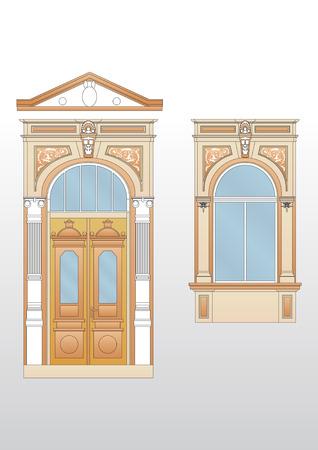 old wooden door: Door vintage