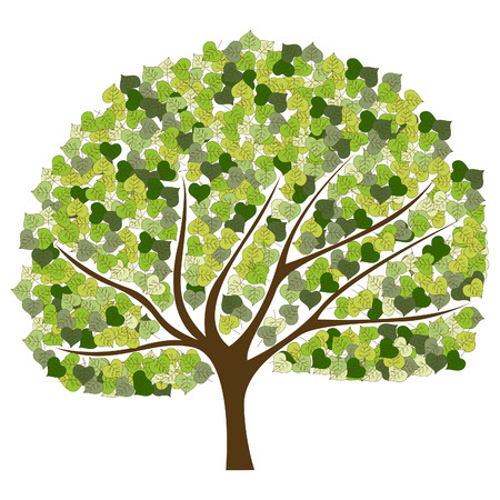 Tree with green leafage Stock Vector - 9123468