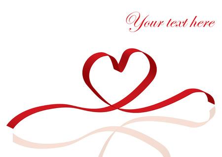 dibujos lineales: Cinta de corazón Vectores