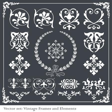 baroque ornament: Vintage elements background Illustration