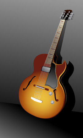 Classical acoustic guitar  background Vector