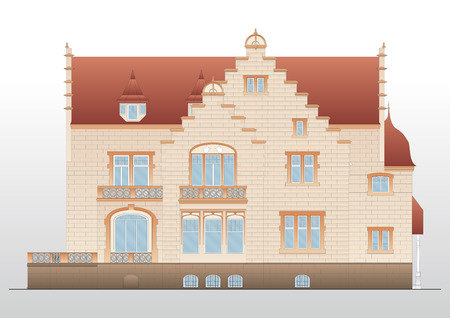 Vintage house  architecture Stock Vector - 9123465