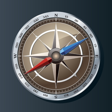 Vintage compass vector background Vector