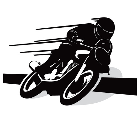 Motorcycle with rider vector background Vector