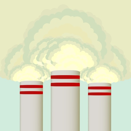 coal plant: Air pollution from coal power plant chimney
